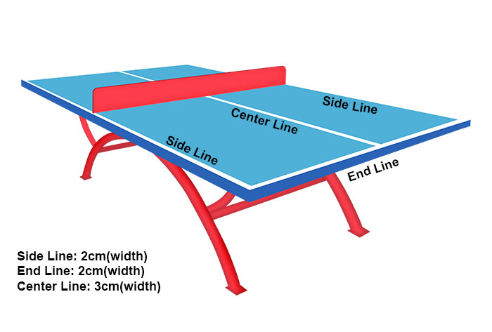 table tennis table lines